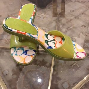 Coach Size 7 lime green Jelly s